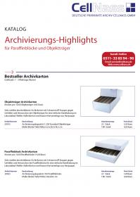 CellNass Archivierungs Produkt Katalog Prepress